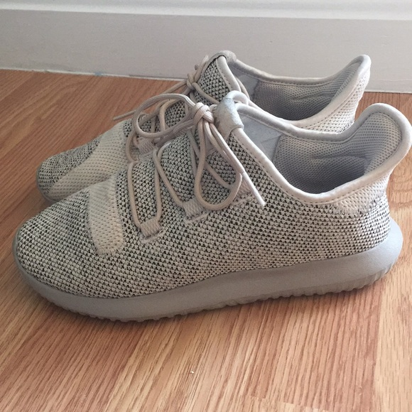 best service cd240 f43a9 Kids Adidas Tubular Shadow knit Tan